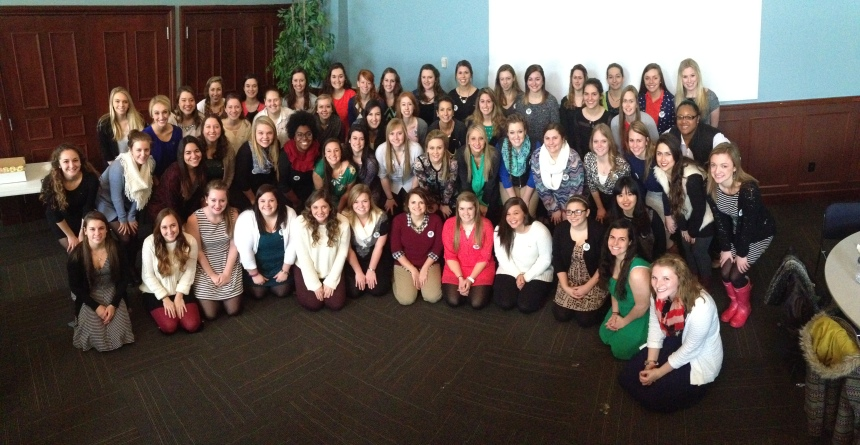 Members of all three sororities gather together. PHOTO BY NICOLE ELLIOT BARTLEY