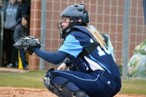 Sophomore catcher Alyssa Johnson and the Jays faced some harsh conditions in their first weekend of the season. PHOTO COURTESY OF WESTMINSTER ATHLETICS