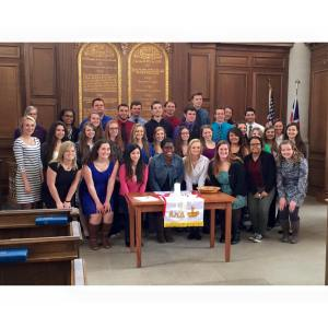 33 students in the freshman class were inducted into ALD this past spring. PHOTO COURTESY OF TRACEY LANDWEHR.