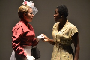 """Carrie Antoine and Freda Boateng in """"The Importance of Being Earnest."""" PHOTO BY TIFFANY CRAWFORD."""