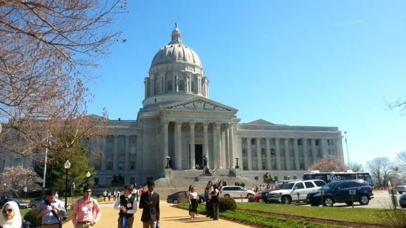 The Missouri Capitol on International Education Day PHOTO CREDIT ABDULLAH MAHDI