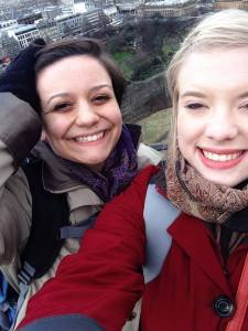 Veronica Tuthill, '16 and Haley Short, '17 visiting Edinburgh, Scotland during the spring semester they spent studying at the University of Winchester in England. PHOTO BY HALEY SHORT.