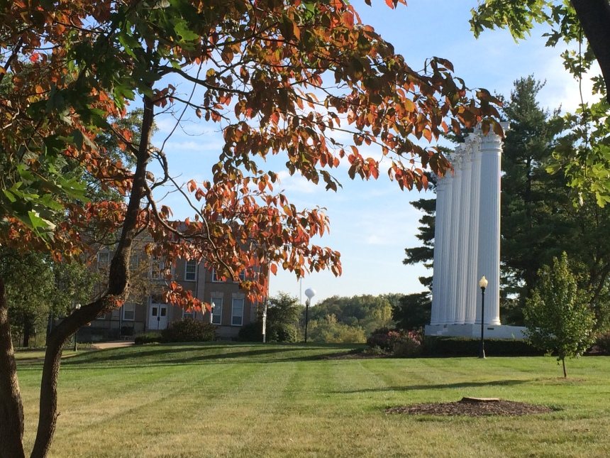 Leaves are changing colors around campus. PHOTO BY JIM MALVEN.