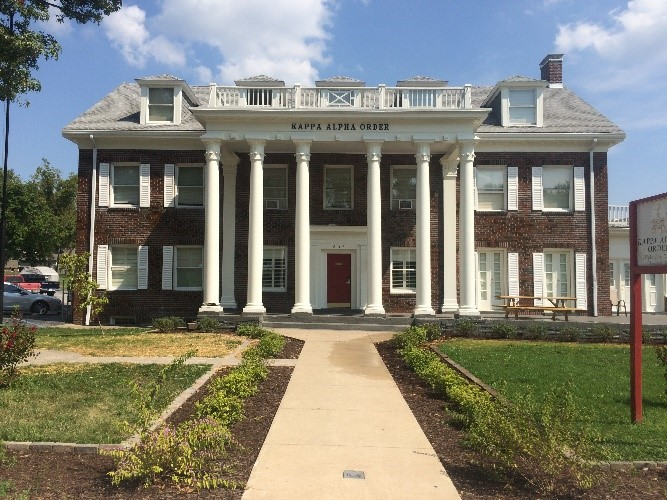 The Kappa Alpha Order house at Westminster College. PHOTO BY LUKE GERAU.