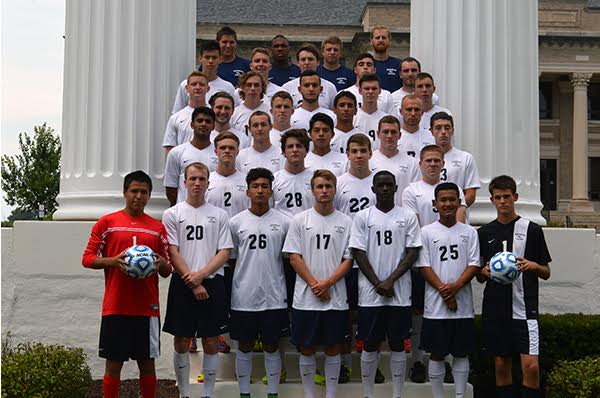 The Westminster men's soccer team. PHOTO COURTESY OF WESTMINSTER ATHLETICS.