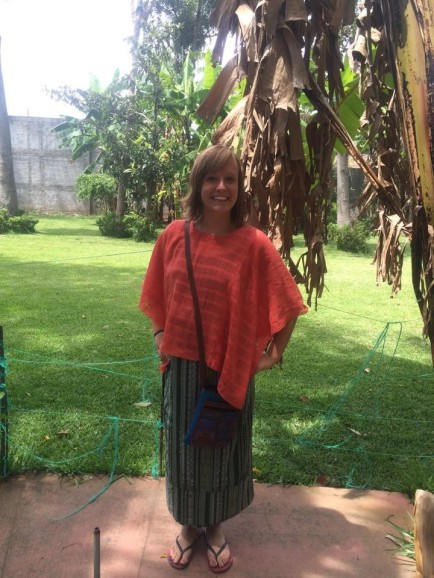 Kimber Summers wearing a traditional Guatemalan outfit. PHOTO COURTESY OF KIMBER SUMMERS.