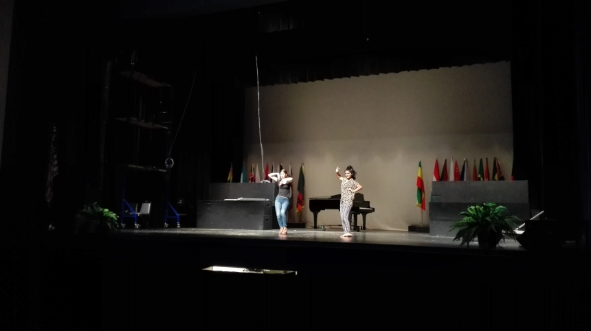 The first rehearsal for the International Show. PHOTO BY JINYU WANG.