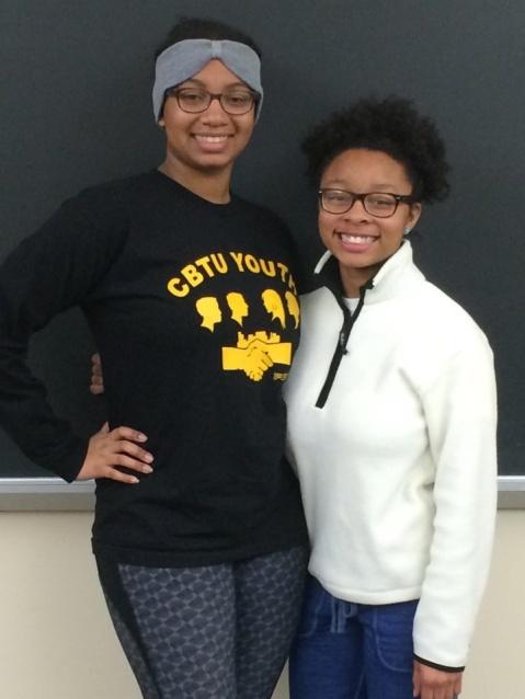 Black Student Union Vice President Celeste Cummings and President Khaila Jones. PHOTO BY JIM MALVEN.