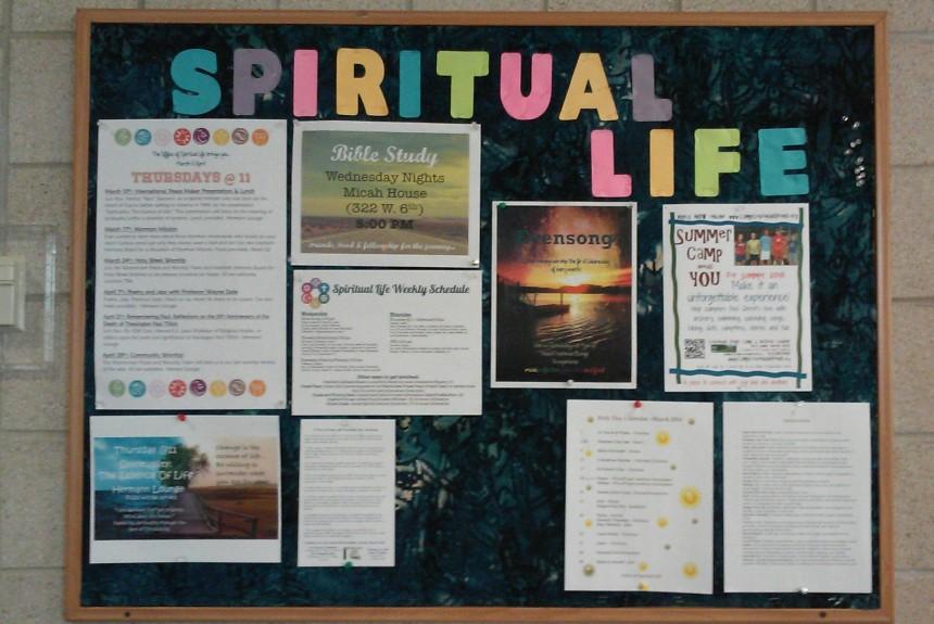 Spiritual Life Bulletin Board