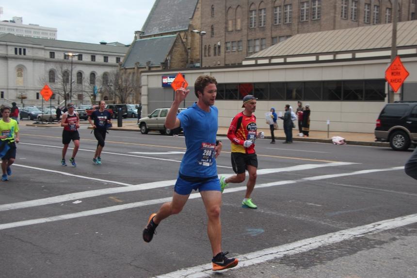Go STL Marathon - 4/10/16 - 7 mile mark