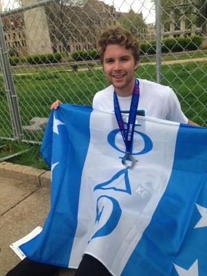 Go STL Marathon - 4/10/16 Phi Delt flag, Iron Phi