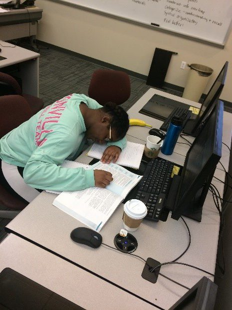 Although studying is certainly important for academic success, sleeping may be just as crucial, as it restores the immune system, replenishes energy and focus and relieves stress. PHOTO BY PAIGE TOWNSEND.